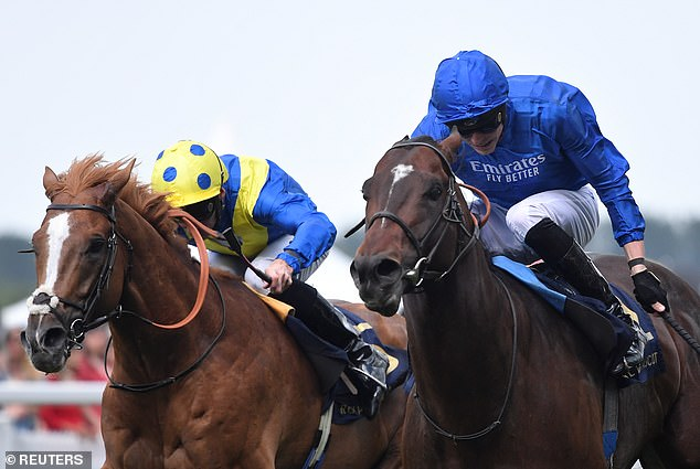 James Doyle (R) riding Blue Point won the Diamond Jubilee Stakes on day five of Royal Ascot