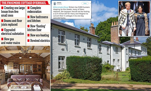 Meghan and Harry splashed £2.4m in taxpayer's cash on Frogmore Cottage