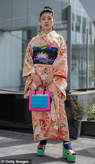 Many felt Kim's trademarked Kimono brand disrespected the traditional 15th century kimono clothing (a Japanese kimono pictured right)