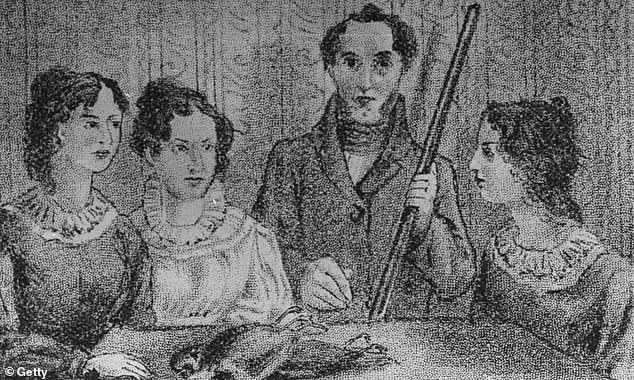TheBrontë sister pictured above with their brother BranwellBrontë who was the parsonage at Haworth
