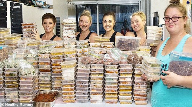 An Australian family-of-seven has cooked up a storm in the kitchen by preparing a staggering 672 meals for the next month - and they cost just $1.50 per serve