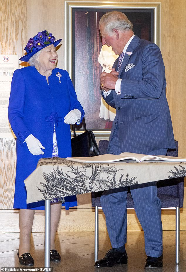 The Queen will still retain her title, but Charles, 70, would take on the majority of the duties performed by the sovereign, while The Duke of Edinburgh, 98, would become Guardian of the Queen. They are picturedattending the 20th Anniversary celebrations of the Scottish Parliament last month