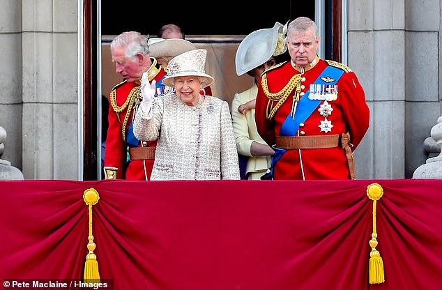 The royal, who turned 93 in April, is reportedly discussing bringing in the 1937 Regency Act in two years, which allows the reigning monarch to hand over power if it is felt they are unable to perform their duties to the fullest. The Queen, centre, and Charles, left, are seen at Trooping the Colour last montn