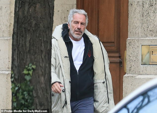 Seeking release: Jeffrey Epstein's lawyers submitted a letter to Judge Richard Berman on Thursday stating their client would agree to 14 conditions if released on bail (Epstein outside his mansion in 2019)