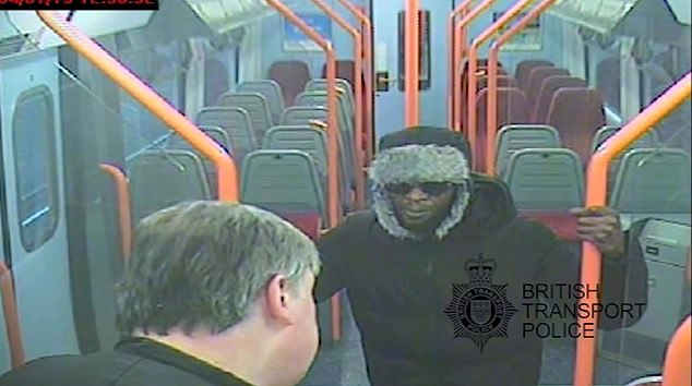 "Still images and videos from the CCTV cameras of the train show the advanced of the attack. Pencille said worryingly, ""You touch me and you see what happens at the next stop"""