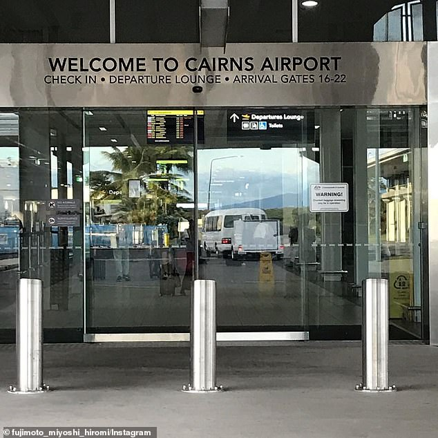 Ordeal: 'I'm stuck here and could legit cry,' Martha, 31, told Daily Mail Australia on Monday. Pictured: Cairns Airport