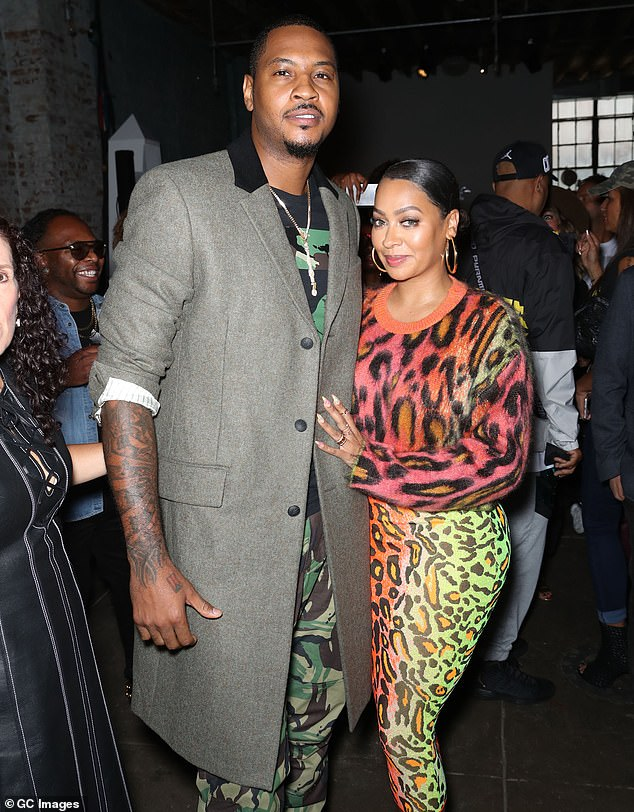 Divorce? Her spokesperson said that the couple is considering a split:'As La La and Carmelo have been living apart for quite some time, La La is proceeding with legal discussions as the next step in their relationship'