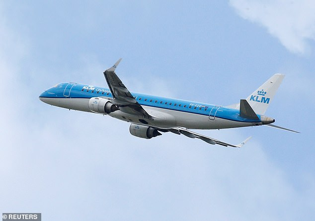KLM Royal Dutch Airlines today scrambled to deny that it was making light of flight fatalities following a bizarre tweet which quoted the worrying statistics (stock image)