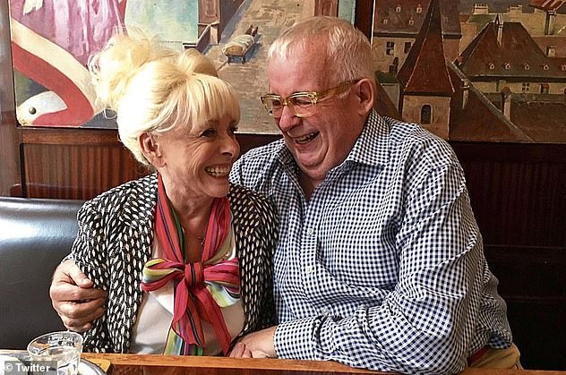 Firm friends: Christopher Biggins - who has been friends with The Carry On star for over 40 years - added that she was looking 'fantastic' and 'fighting fit' when the pair met for a catch up