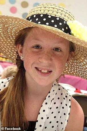 The bodies of Abby Williams, 13, (pictured) and Libby German, 14, were found in Delphi, Indiana, on February 14, 2017