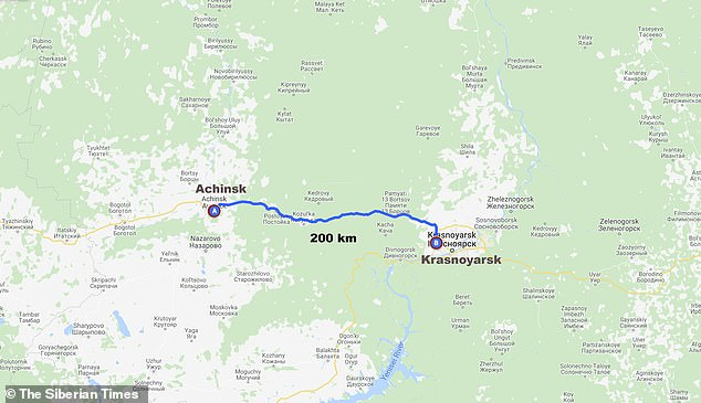 Maru had carefully followed Trans-Siberian railway track - the longest in the world - eastwards and had covered 125 miles (200km) through wild countryside since fleeing the train
