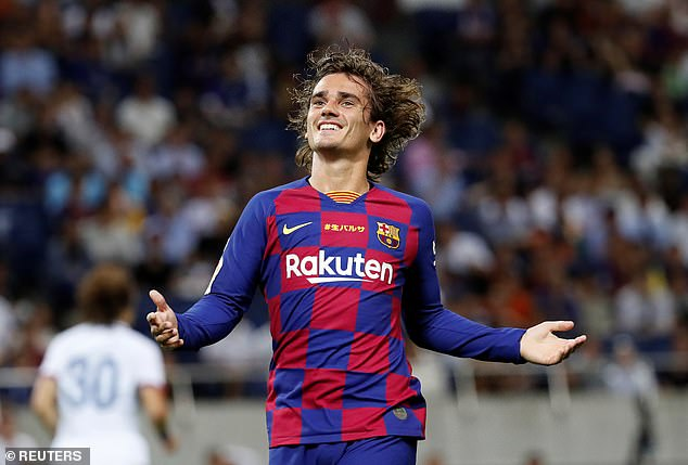 Antoine Griezmann made his first start for Barcelona after his £108million move on Tuesday