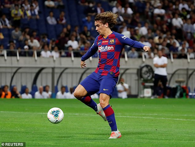 The former Atletico Madrid forward featured as Barcelona took on Chelsea in Saitama, Japan