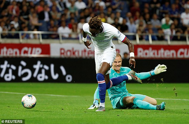 Tammy Abraham latched onto a loose ball and showed composure to score the opening goal