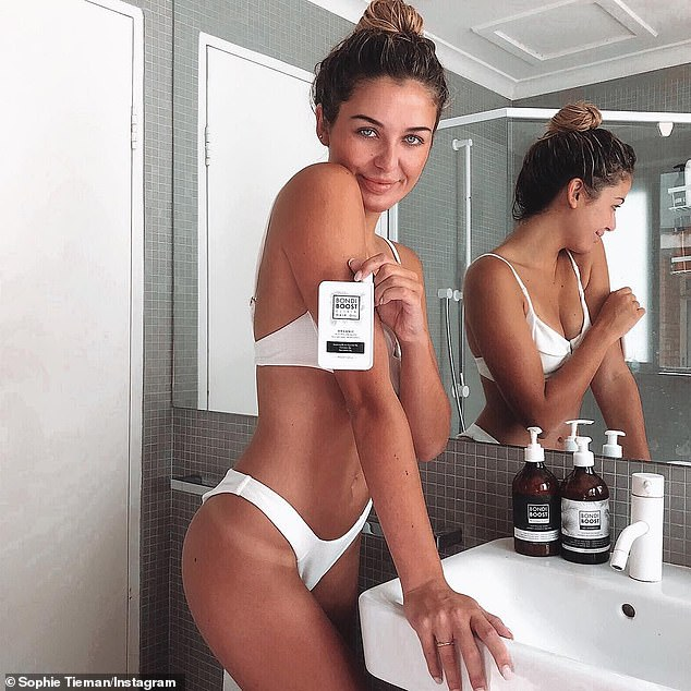 Post responsibly: According to Triple J Hack,breaching the Australian Consumer Law (ACL) can have financial repercussions. Pictured: Sophie Tieman, who clearly declared her sponsorship in this ad for Bondi Boost hair products