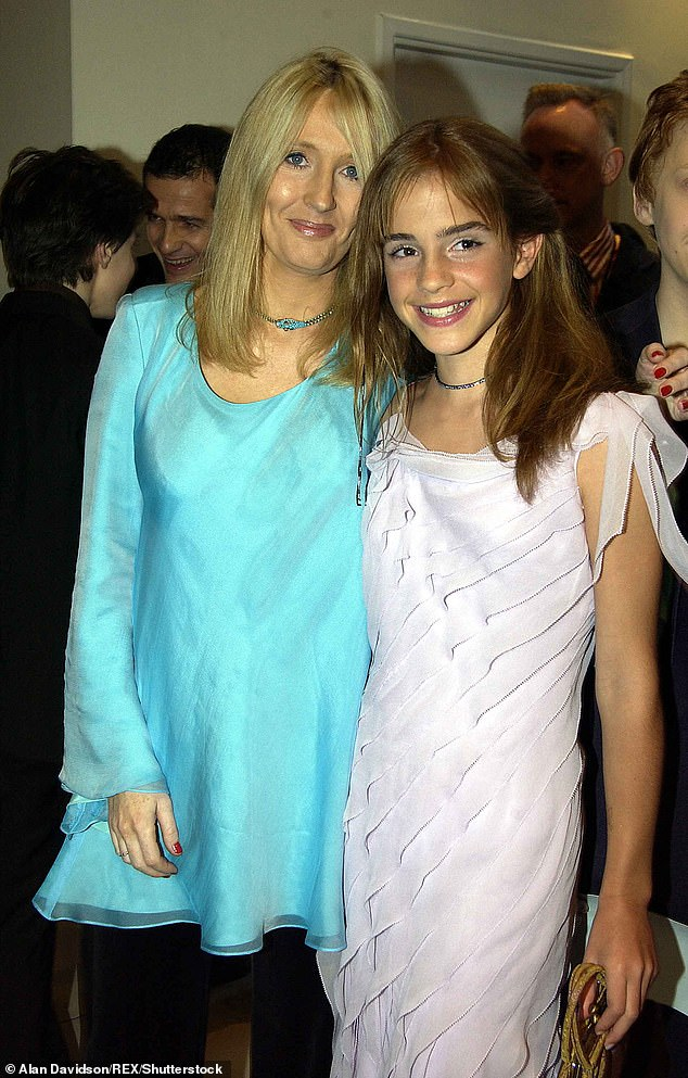 Old pals:It's been twenty years since the pair first met at Emma's screen test for the role of Hermione Granger in the Harry Potter film franchise (pictured in 2001 )