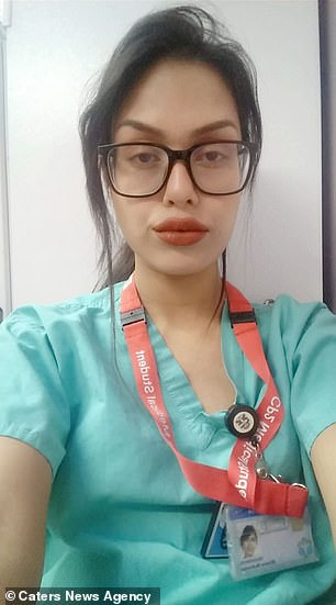 Bhasha Mukherjee in her work uniform