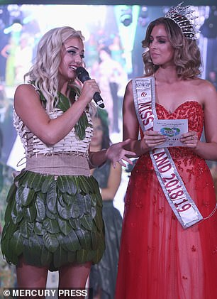 Eco Fashion Winner Charlie Jones of Somerset with Miss England 2018/19 Alisha Cowie