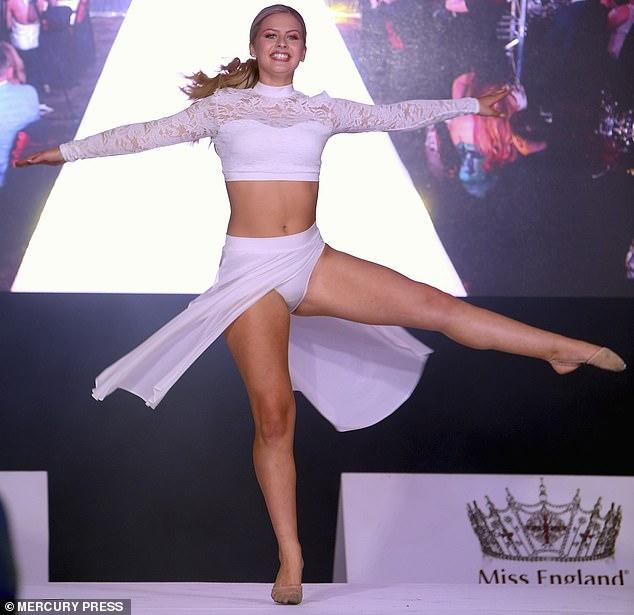 Miss Talent winner Ella Grace performs in the final in Newcastle last night
