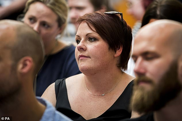 Lyra McKee's partner Sara Canning (pictured attending the launch of Lyra's book earlier this month) says she 'understands' why people are afraid to speak up to police