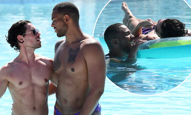 Geordie Shore S Nathan Henry Cosies Up To Celebs Go Dating Receptionist Tom Read Wilson Daily Mail Online