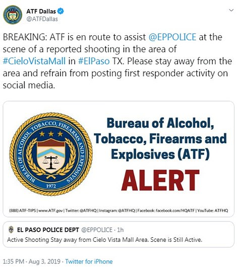 The Bureau of Alcohol, Tobacco, Firearms, and Explosives announced that it has dispatched federal agents to the scene to assist local law enforcement
