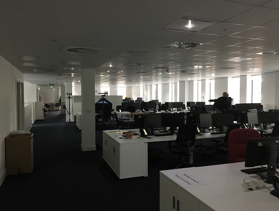 An office block in Newcastle was left in the dark as its electricity cut out during the power outage