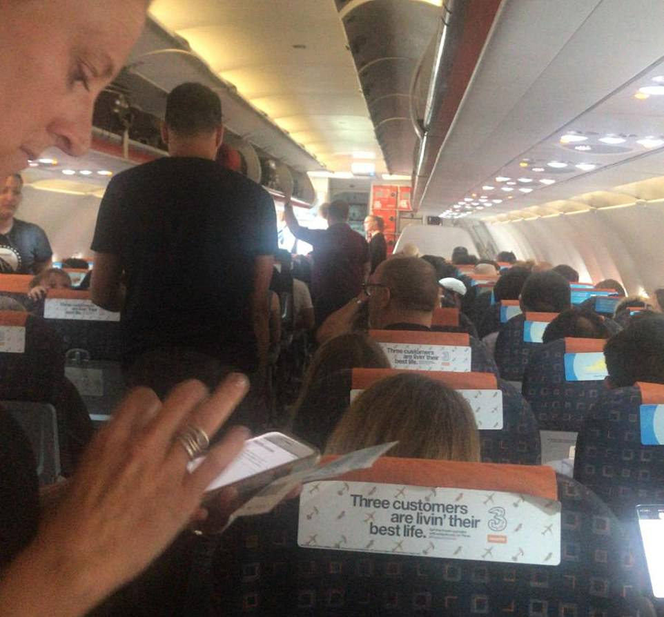 Eric Anchorage is stuck on a plane at Luton Airport with his family following the power outage