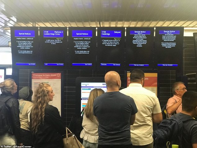 There were delays and cancellations across the rail network this afternoon following the power outage, which affected large swathes of the country
