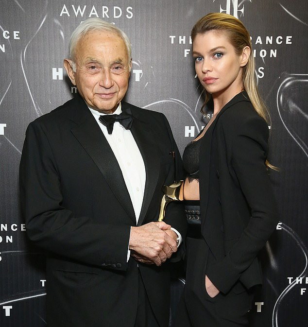 Leslie Wexner, the founder and CEO of Victoria's Secret parent company L Brands Inc,accused Jeffrey Epstein of stealing more than $46million from his family's fortune. Wexner (above with model Stella Maxwell in 2016) hired Epstein as his money manager in 1991 and cut ties with himin 2007 after the financier was accused of sexually abusing underage girls