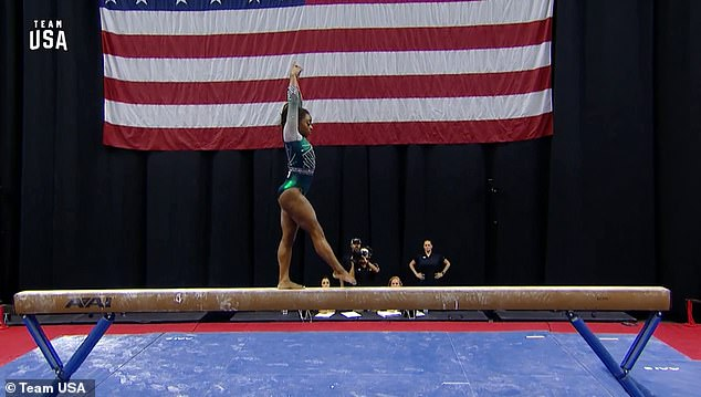 Four-time Olympic and 14-time world champion Simone Biles has made history as the first gymnast ever to land a double twisting, double somersault dismount off the balance beam on Friday