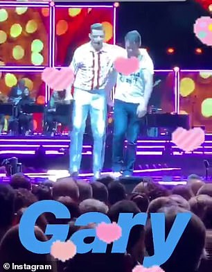 He asked truck driver Gary a series of questions after calling him up on stage