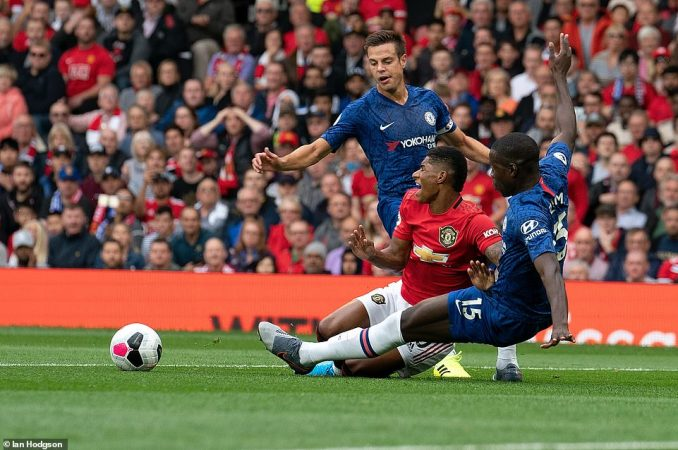 The United forward won the penalty after being brought down by Chelsea defender Kurt Zouma in the area