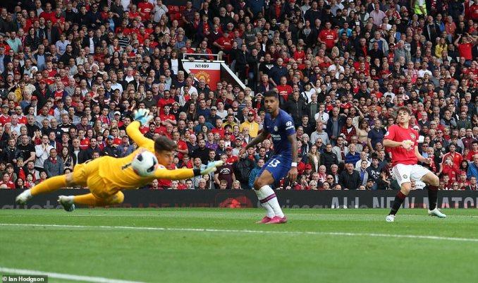 Daniel James grabbed himself a debut goal after his effort deflected into the corner off Chelsea defender Emerson Palmieri