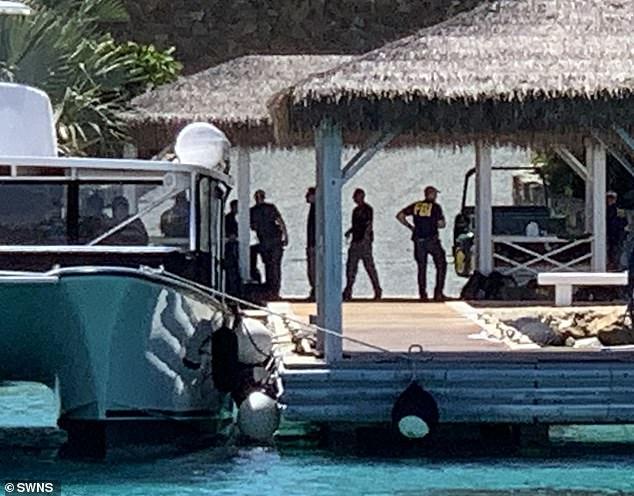 FBI agents were seen raiding Jeffrey Epstein's US Virgin Island Little St James in August - it earned the nickname 'paedo island'