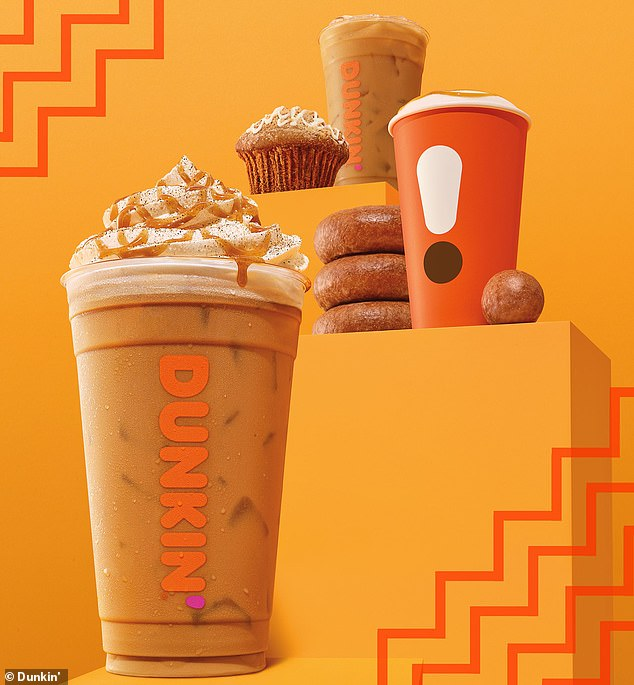 Joining in: Dunkin' Donuts is also releasing its own pumpkin-inspired fall beverage, and it will officially launch on August 21