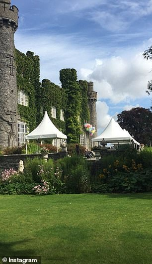 Attendees shared snaps of the exclusive castle venue