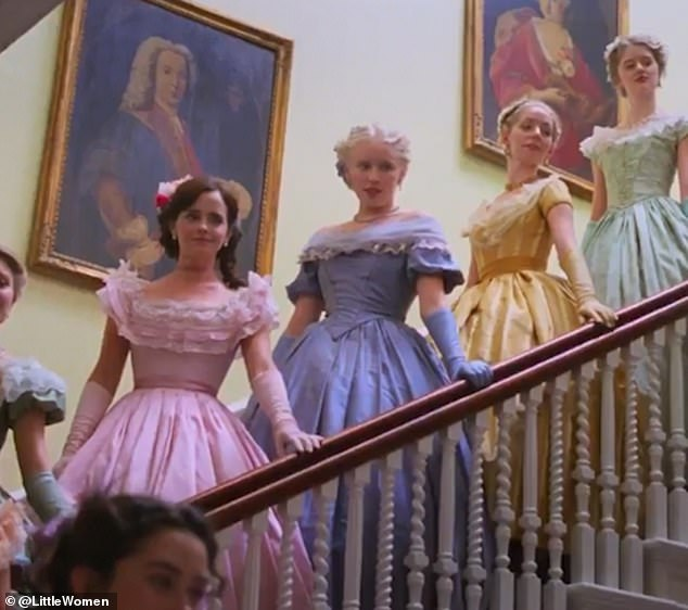 Family: Set in 1860s New England, the first look follows the journey of four sisters - Meg ( Emma), Amy (Florence Pugh), Jo (Saoirse Ronan) and Beth (Eliza Scanlen) - as they battle societal expectations