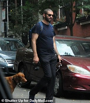 Borgerson was seen walking Maxwell's dog on the Boston Common near his apartment where he lives during the week.