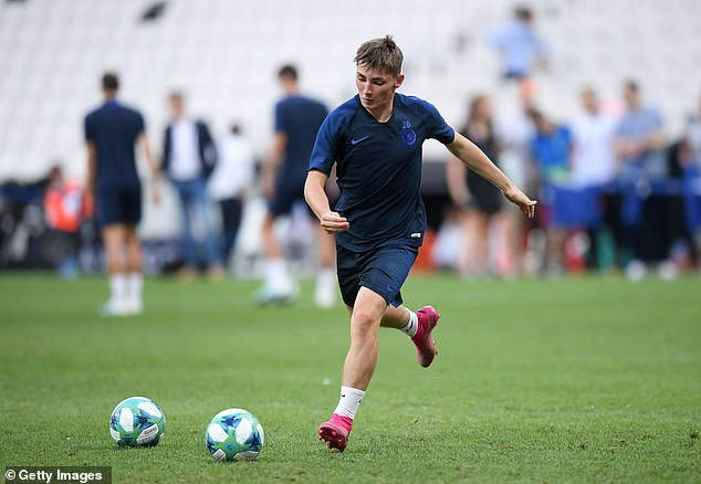 Gilmour has travelled with the Blues squad for their Super Cup clash against Liverpool