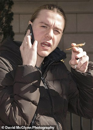 Abbott was pictured in March smoking a blunt