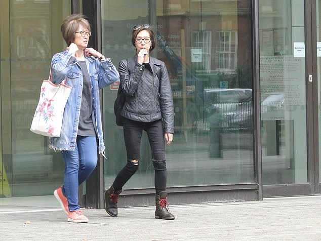 Ms Chaing (pictured, right, outside Westminster Magistrates' Court) has been cleared of attacking her mother, Maria Eye Sui Chaing (left)