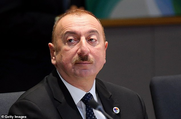 He forged close links with Azerbaijan's president Ilham Aliyev (who is pictured above at an EU partnership meeting in May) whose regime is said to have rigged elections and thrown political opponents in jail and tortured them
