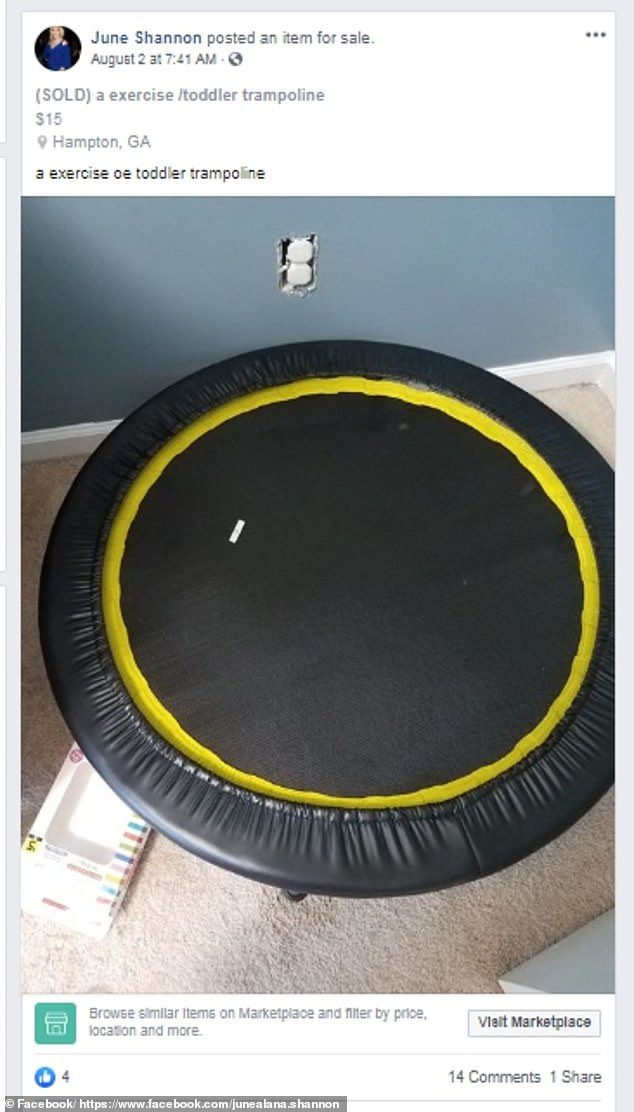 Odds and ends: A picture of NYC, a gumball machine and a trampoline were among the items the reality star advertised on Facebook Marketplace