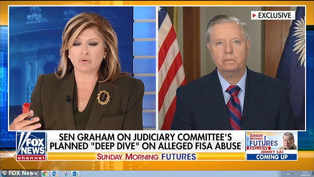 During an interview with Fox News'Maria Bartiromo, Sen. Lindsey Graham said he believes Inspector General MichaelHorowitz's report on the Russia probe will be 'ugly and damning' for the Department of Justice