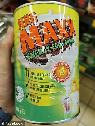 Aldi's NRG Maxx, priced at $3.99 for a 450g tin (pictured) is being hailed by mums for being as good as Milo