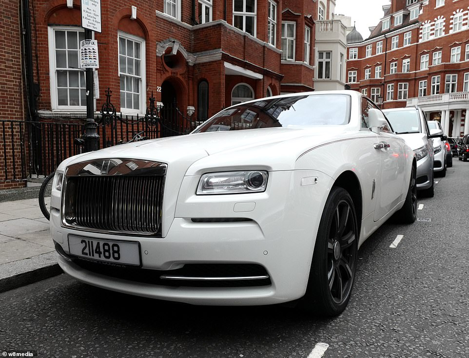 An impressive Rolls-Royce Wraith vehicle is pictured on the streets of Knightsbridge. The cars cost from £258,000