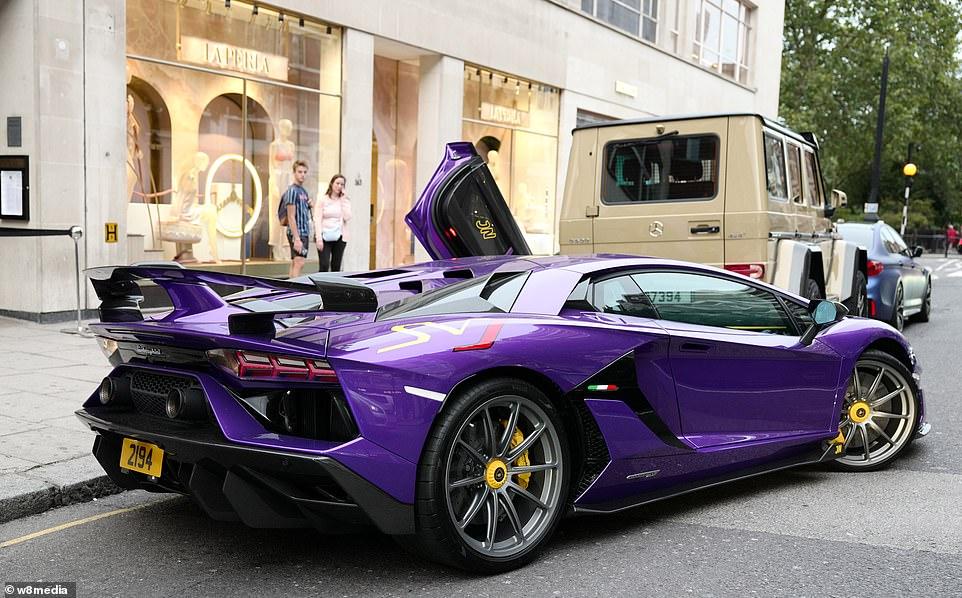 A Lamborghini Aventador Superveloce Jota supercar owned by Jassim Bin Nasser Al-Thani costing at least £350,000