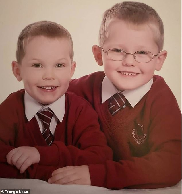 Ms Clark fears she will leave her sons, pictured when they were younger, without a mother, after raising them as a single mother when their biological father left