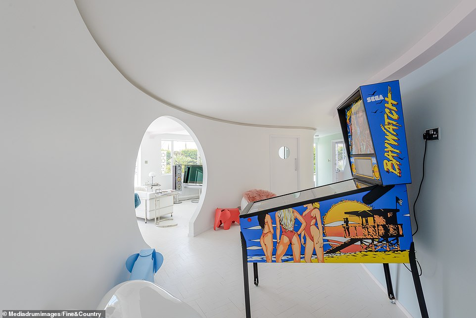 The seller said: 'Having spent many happy, family holidays in Frinton, I had always been fascinated by the futuristic, modern movement style of The Round House'